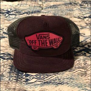 Vans purple hat
